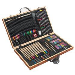Set de colorat, multicolor, Everestus, DE02MT, lemn, ceara, plastic