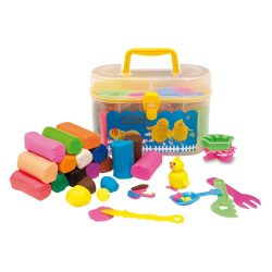 Set plastilina 16 bucati, Everestus, JJE13, plastic, multicolor, saculet de calatorie inclus