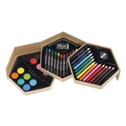 Colourful Level Set de colorat, maro