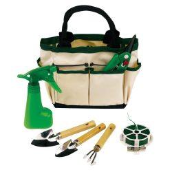 Set de gradinarit, verde si bej, Everestus, GR01BC, poliester, metal, lemn, plastic, saculet de calatorie inclus