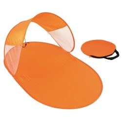 Umbrar de plaja pentru copii, portocaliu, Everestus, UP07SD, poliester, fibra de sticla, saculet de calatorie inclus