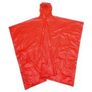 Pelerina de ploaie cu gluga, marime universala, Everestus, 20IAN1211, Rosu, Plastic
