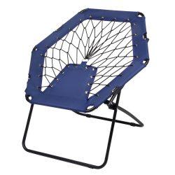 Scaun portabil pentru plaja sau picnic, Everestus, 20FEB0147, Otel, Poliester, Albastru, Negru