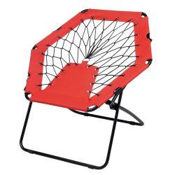 Scaun portabil pentru plaja sau picnic, Everestus, 20FEB0148, Otel, Poliester, Negru, Rosu