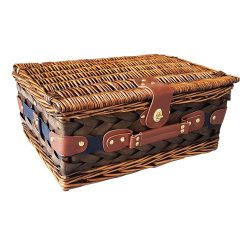 Cos pentru picnic, 2 persoane, albastru, alb, Everestus, CP04CK, lemn