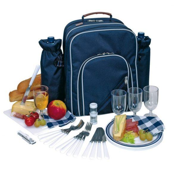 Rucsac pentru picnic, 4 persoane, albastru, Everestus, CP10HK, poliester