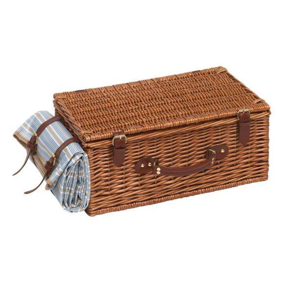 Cos pentru picnic, 4 persoane, maro, albastru, bej, Everestus, CP05MK, lemn