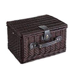 Cos de picnic din rachita, 2 persoane, maro, Everestus, CP03SK, lemn