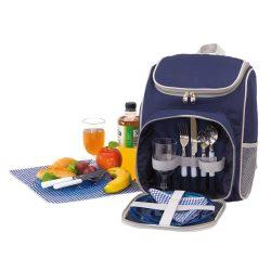 Rucsac picnic, 2 persoane, accesorii incluse, albastru gri, Everestus, CP12OE, poliester