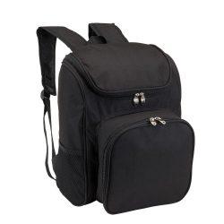 Rucsac picnic, 2 persoane, accesorii incluse, negru, Everestus, CP13OE, poliester, saculet si pastila racire incluse