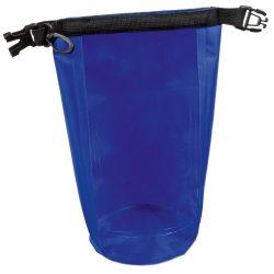 Geanta de plaja din material impermeabil, Everestus, EGP0614, poliester, plastic, polipropilena, albastru, saculet inclus