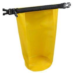 Geanta de plaja din material impermeabil, Everestus, EGP0615, poliester, plastic, polipropilena, galben, saculet inclus