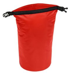 Geanta de plaja din material impermeabil, Everestus, EGP0613, poliester, plastic, polipropilena, rosu, saculet inclus