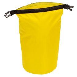 Geanta de plaja din material impermeabil, Everestus, EGP0612, poliester, plastic, polipropilena, galben, saculet inclus