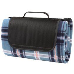 Patura picnic 150x125 cm, inchidere cu arici, Everestus, 20FEB0156, Poliester, Polietilena, Alb, Albastru, Negru