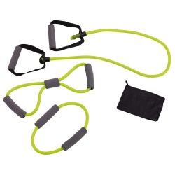 Benzi fitness, negru, verde, Everestus, AF02SS, plastic, tpr, saculet sport inclus