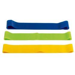 Set 3 benzi elastice pentru antrenament, latex, Everestus, SYB01, multicolor, saculet sport inclus