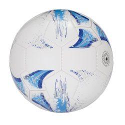 Minge de fotbal cu 32 segmente, marime 5, Everestus, KAD01, pvc, alb, albastru, desfacator de sticle inclus