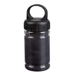 Prosop racoritor, poliester, plastic, 30x80 cm, Everestus, SPF022, negru, saculet sport inclus