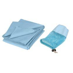 Prosop din microfibra 140x70 cm, albastru deschis, Everestus, PR01FS, poliester, poliamida, saculet de calatorie inclus