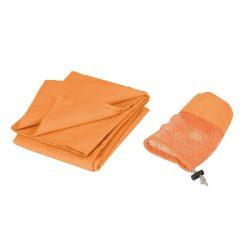 Prosop din microfibra 140x70 cm, portocaliu, Everestus, PR04FS, poliester, poliamida, saculet de calatorie inclus