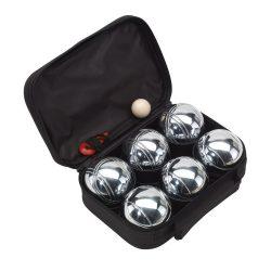 Set Boule, 6 bile metalice, negru, Everestus, JD02GH, metal, nailon