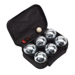 Set Boule, 6 bile metalice, negru, Everestus, JD02GH, metal, nailon, saculet de calatorie inclus