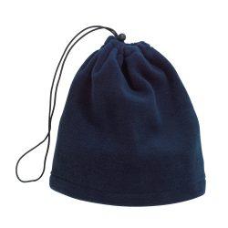 Fular caciula fleece VARIOUS, bleumarin