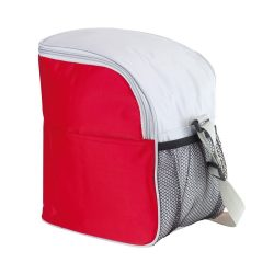 Geanta frigorifica cu banda ajustabila pentru umar, Everestus, GL01GTI, poliester 420D, rosu, pastila racire inclusa