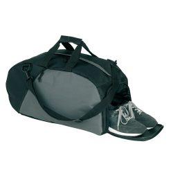 Geanta sport, negru, gri, Everestus, GS24RX, poliester 600D, saculet de calatorie si eticheta bagaj incluse