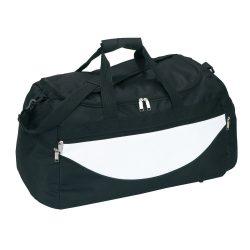 Geanta sport, negru, alb, Everestus, GS09CP, poliester 600D, saculet de calatorie si eticheta bagaj incluse