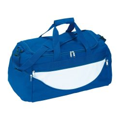 Geanta sport, albastru roial, alb, Everestus, GS07CP, poliester 600D, saculet de calatorie si eticheta bagaj incluse