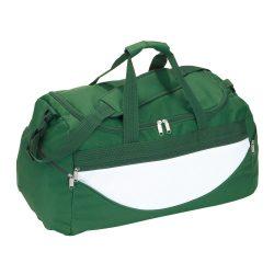 Geanta sport, verde, alb, Everestus, GS12CP, poliester 600D, saculet de calatorie si eticheta bagaj incluse