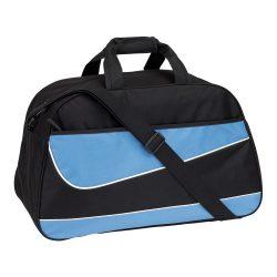 Geanta sport cu bretea de umar ajustabila, Everestus, 20IAN1311, Negru, Albastru, Poliester 600D