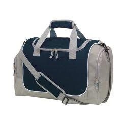 Geanta sport, gri, negru, Everestus, GS20GM, poliester 600D, saculet de calatorie si eticheta bagaj incluse