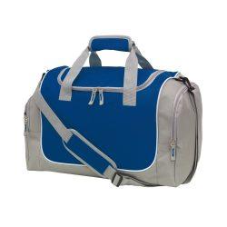 Geanta sport, gri, albastru inchis, Everestus, GS19GM, poliester 600D, saculet de calatorie si eticheta bagaj incluse