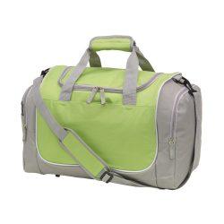 Geanta sport, gri, verde, Everestus, GS22GM, poliester 600D, saculet de calatorie si eticheta bagaj incluse