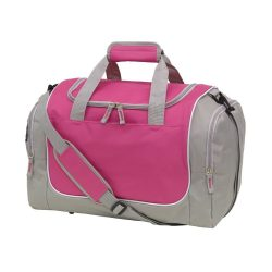 Geanta sport, gri, roz, Everestus, GS21GM, poliester 600D, saculet de calatorie si eticheta bagaj incluse
