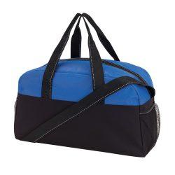 Geanta pentru fitness, Everestus, 20IAN1297, Negru, Albastru, Poliester 300D