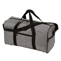 Geanta sport, gri, negru, Everestus, GS13DL, poliester 600D, saculet de calatorie si eticheta bagaj incluse