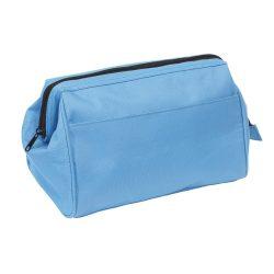 Geanta cosmetice pentru voiaj, Everestus, DK01, poliester 600D, albastru, saculet de calatorie inclus