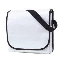 Geanta de umar cu bareta ajustabila, Everestus, CR01, clorofibra, alb, saculet de calatorie si eticheta bagaj incluse