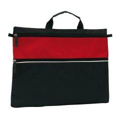 Geanta de documente FILE, negru rosu