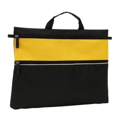 Geanta de documente FILE, negru galben