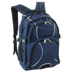 Rucsac albastru, negru, Everestus, RU21HE, poliester 600D, saculet de calatorie si eticheta bagaj incluse