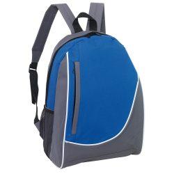 Rucsac sport casual cu buzunar lateral din plasa, 28.5x15x39.5 cm, Everestus, 20SEP1129, Poliester, Gri, Albastru