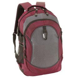 Rucsac bordeaux, gri, Everestus, RU19HS, poliester 1680D, saculet de calatorie si eticheta bagaj incluse