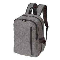 Rucsac gri, negru, Everestus, RU12DL, poliester 600D, saculet de calatorie si eticheta bagaj incluse