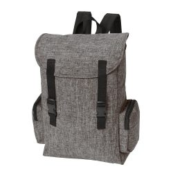 Rucsac gri, negru, Everestus, RU13DS, poliester 600D, saculet de calatorie si eticheta bagaj incluse