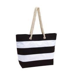 Geanta de plaja SYLT, negru alb